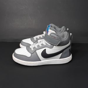 Nike Court Borough Mid PSV Grey White Sz 11.5C